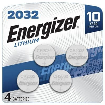 2032 Batteries (4 Pack), 3V Lithium Coin Batteries