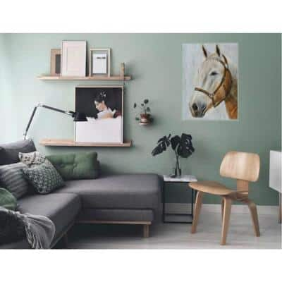 29.53 in. x 39.37 in. Horse Hand Painted Wood Wall Art Decor