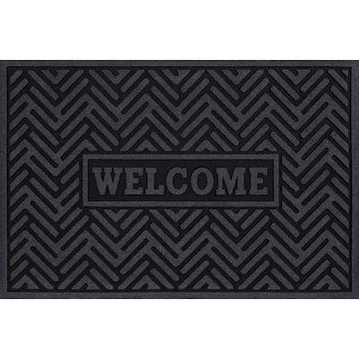 Welcome Branson Bars Charcoal 24 in x 36 in Door Mat
