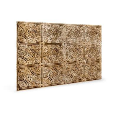 18.5'' x 24.3'' Empire Decorative 3D PVC Backsplash Panels in Bronze 1-Piece