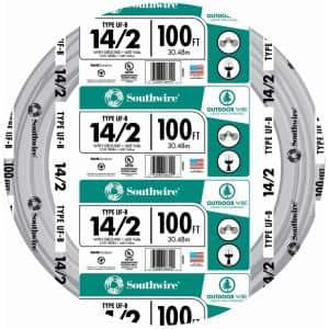 100 ft. 14/2 Gray Solid CU UF-B W/G Wire