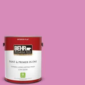 1 gal. #P120-3 High Maintenance Flat Low Odor Interior Paint and Primer in One