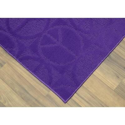 Large Peace Purple 5 ft. x 7 ft. Area Rug