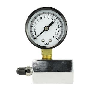 0 - 15 psi 1/10 Increment Compressed Air Test Gauge