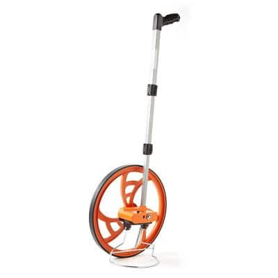 15-1/2 in. Measuring Wheel with Telescoping Handle and Pistol Grip - Measures in Feet and 10ths (5 Digit Counter)