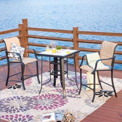 3-Piece Sling Outdoor Bistro Set