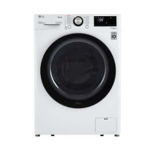 2.4 cu.ft. Compact White Front Load Washer with Built-In Intelligence