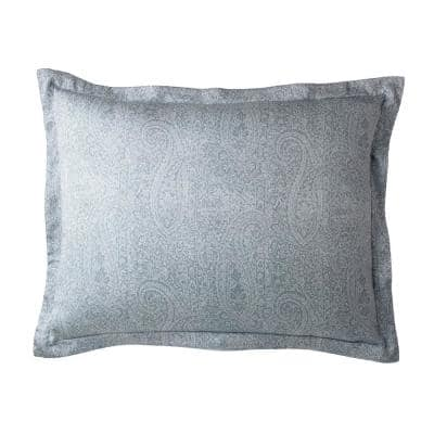 Collins Blue Paisley 300-Thread Count Bamboo Standard Sham