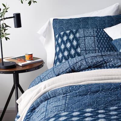 Dara Geometric Cotton Patchwork Quilt