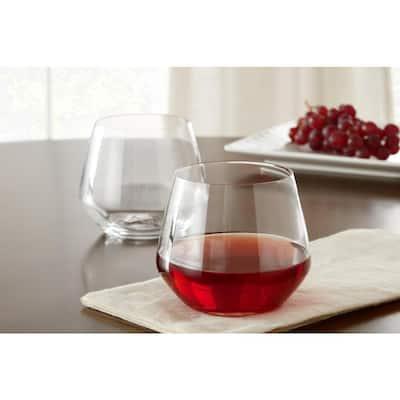 Genoa 18.5 oz. Lead-Free Crystal Stemless Wine Glasses (Set of 4)