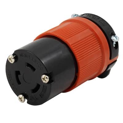 NEMA L5-20R 20 Amp 125-Volt 3-Prong Assembly Locking Female Connector