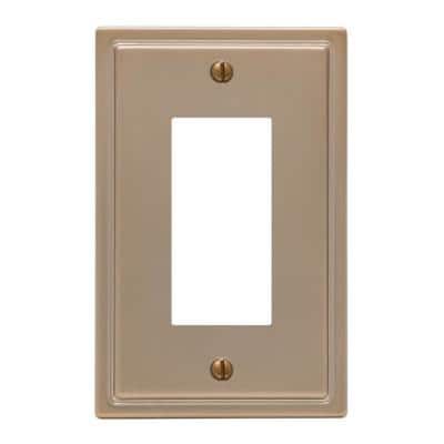 Moderne 1 Gang Rocker Steel Wall Plate - Brushed Bronze