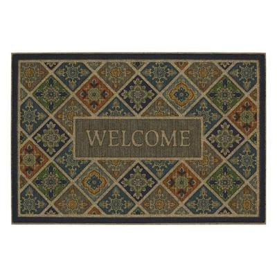 Tile Garden Welcome Impressions 24 in. x 36 in. Door Mat