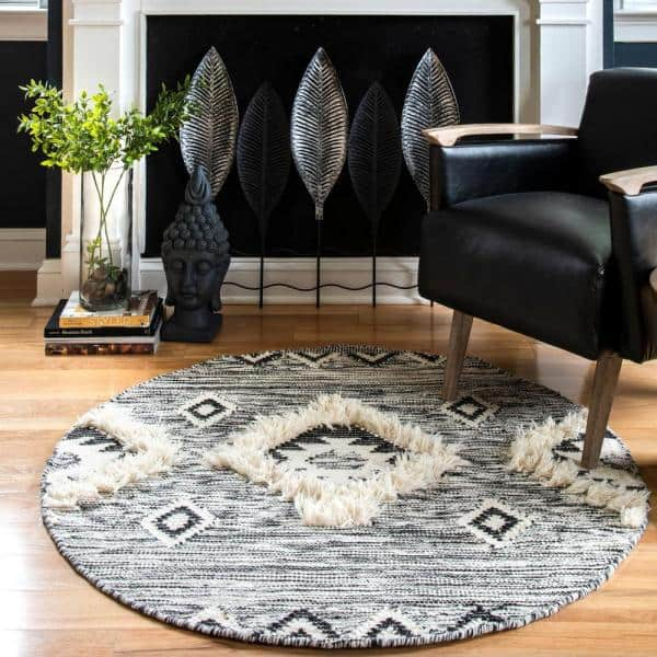 Nuloom Savannah Moroccan Fringe Black 2 Ft 2 In X 8 Ft Indoor Runner Rug Spmo01a 2208 The Home Depot