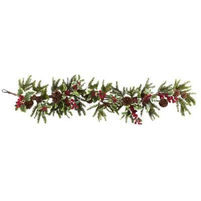 54 in. Holly Berry Garland