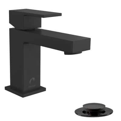 Belanger Single Hole Single-Handle Bathroom Faucet with Drain Assembly in Matte Black