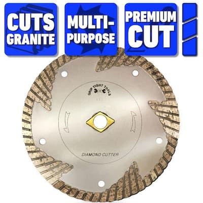 7 in. Premium Deep Turbo Cut General Purpose Diamond Blade for Cutting Granite, Marble, Concrete, Stone, Brick, Masonry