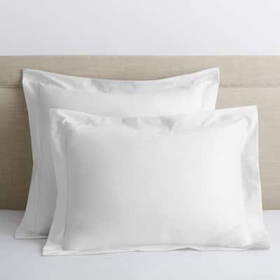 Legends Luxury Solid White 500-Thread Count Cotton Sateen Standard Sham