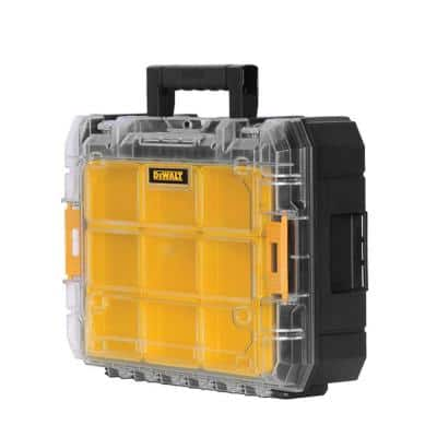 TSTAK V 7 in. Stackable 9-Compartment Small Parts & Tool Storage Organizer