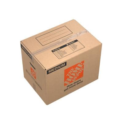 21 in. L x 15 in. W x 16 in. D Medium Moving Box with Handles (150-Pack)