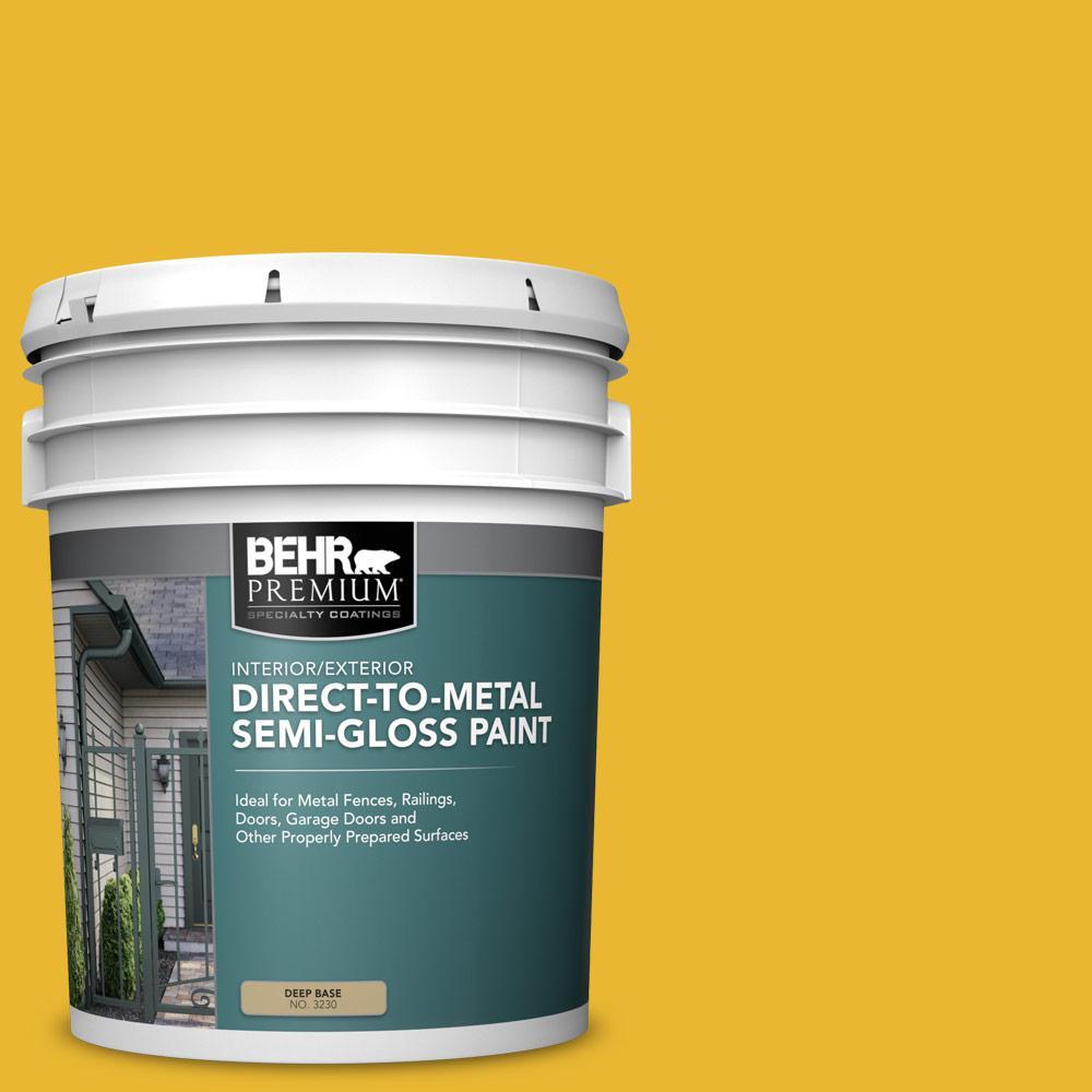 5 gal. #OSHA-6 Osha Safety Yellow Semi-Gloss Direct to Metal Interior/Exterior Paint