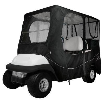 Deluxe Golf Car Enclosure Black Long Roof