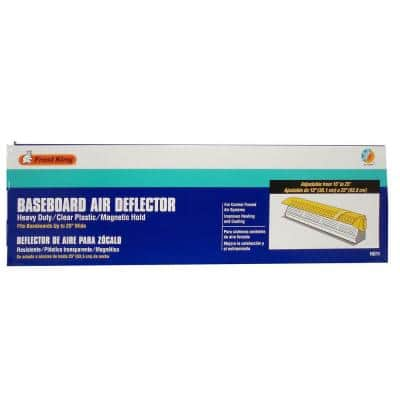 Baseboard Air Deflector Extends 15 to 25 in.