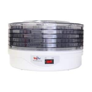 3 ft. White, Countertop Food Dehydrator with 5 Trays