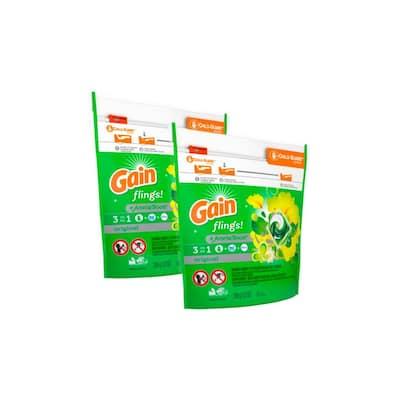 Flings Original Scent Laundry Detergent (16-Count, 2 Pack)