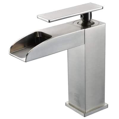 AB1598-BN Single Hole Single-Handle Bathroom Faucet in Brushed Nickel