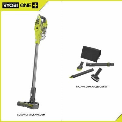 ONE+ 18V Brushless Cordless Compact Stick Vacuum Cleaner (Tool Only) with 4-Piece Vacuum Accessory Kit