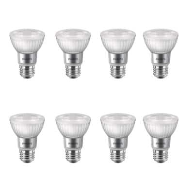50-Watt Equivalent PAR20 Dimmable LED with Warm Glow Dimming Effect Flood Light Bulb Bright White (8-Pack)