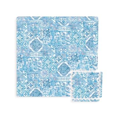 Belize Blue 11.4 in. x 11.4 in. Foam Interlocking Floor Tiles (44-Pieces/Case)