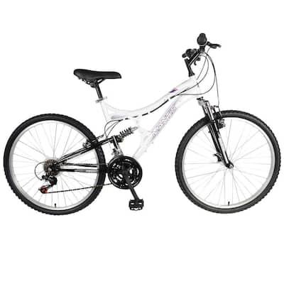 Orchid Full Suspension Mountain Bike, 26 in. Wheels, 17 in. Frame, Women's Bike in Pearl/Purple