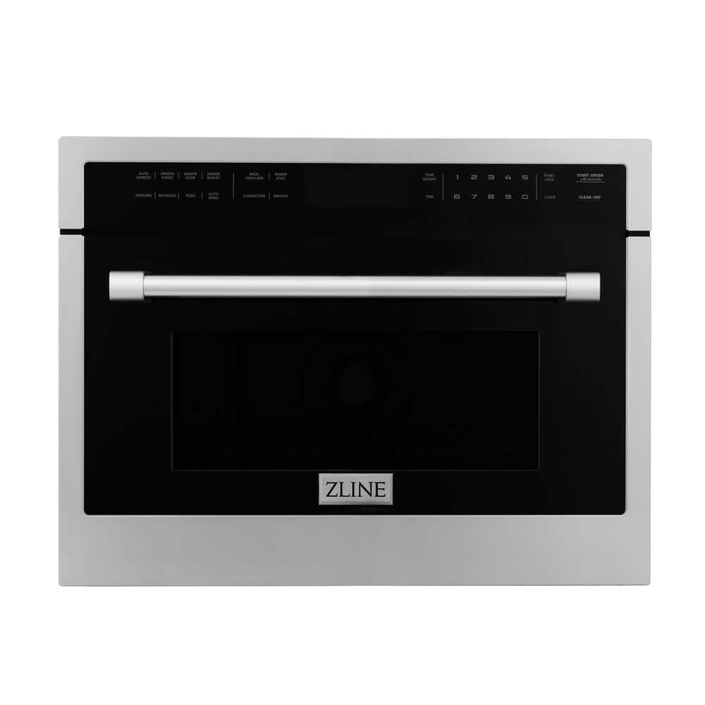 """24"""" 1.6 cu. Fit. Built-in Convection Microwave Oven with Speed Cook in Stainless Steel with Sensor Cooking"""