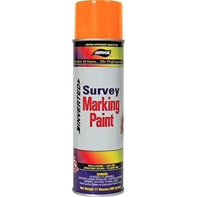 17 oz. Fluorescent Orange Inverted Survey Marking Spray Paint (12-Pack)