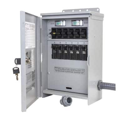7,500-Watt 30 Amp 6-Circuit Outdoor Transfer Switch
