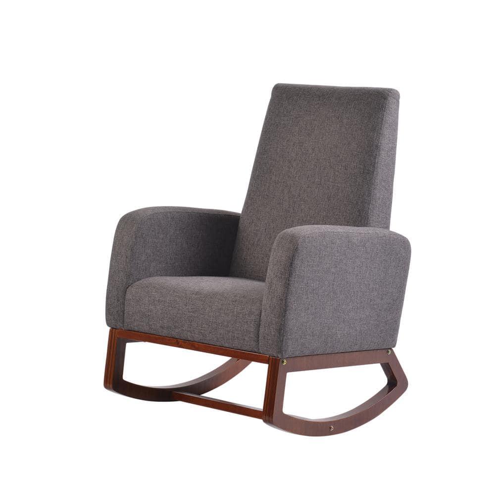 Baby Glider Cherry Artiva Usa Wood, Leather Baby Rocking Chair
