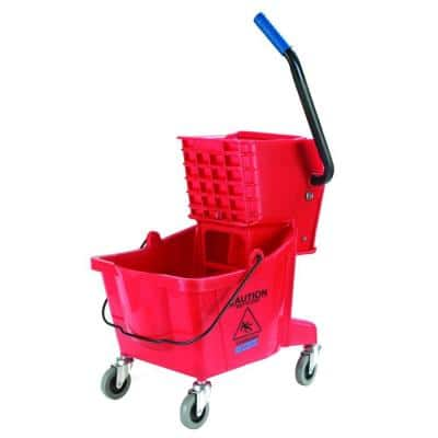 26 qt. Red Mop Bucket/Wringer Combo