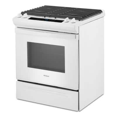 5 cu. ft. Gas Range with Frozen Bake Technology in White