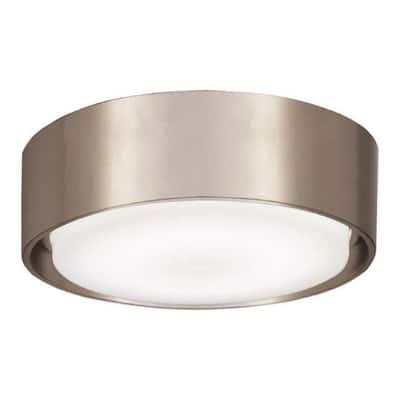 Simple 1-Light LED Brushed Nickel Wet Ceiling Fan Light Kit