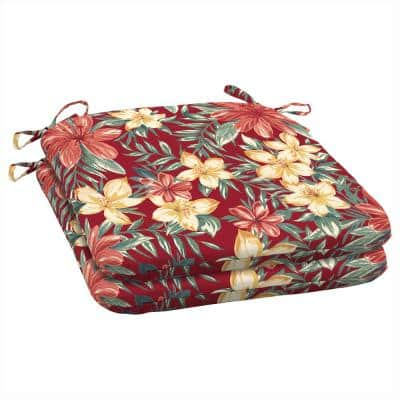 19 x 18 Ruby Clarissa Tropical Outdoor Seat Cushion (2-Pack)