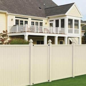3-1/2 ft. x 6 ft. Tan Vinyl Somerset Privacy Fence Gate