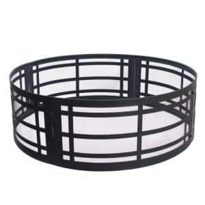 Classic 36 in. x 12 in. Round Steel Wood Fire Ring in Black
