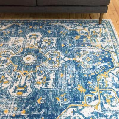 Blue Orange Area Rugs Rugs The Home Depot