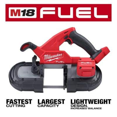 M18 FUEL 18-Volt Lithium-Ion Brushless Cordless Compact Bandsaw and 4-1/2 in./5 in. Grinder (2-Tool)
