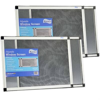 15 in. x 21 in. Fiberglass Expandable Aluminum Frame Window Screen (2-Pack)
