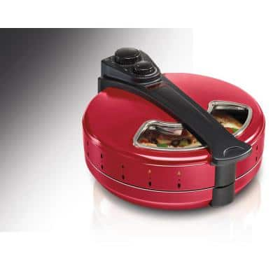 180 sq. in. Red Metal Pizza Maker