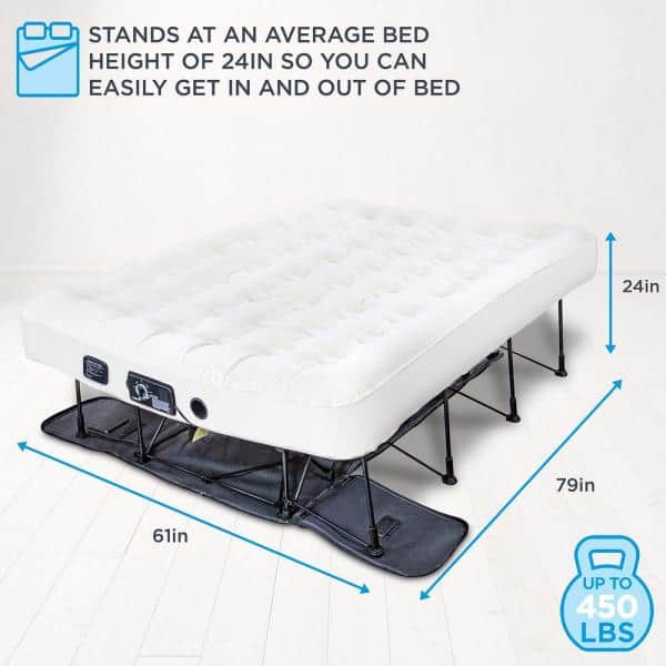 Ivation Ez Bed 7 In Thick Queen Size, Concierge Collection Inflatable Ez Bed Queen