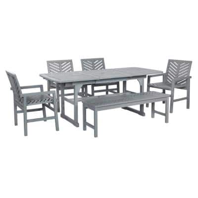 Gray Grey Wash Patio Dining Sets Patio Dining Furniture The Home Depot